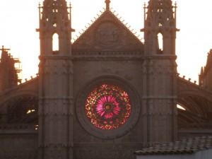 Solsticio invierno Catedral de Palma de Mallorca