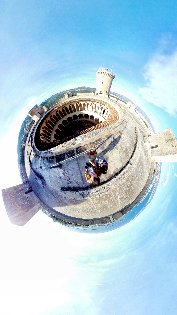 castillo bellver vista aerea